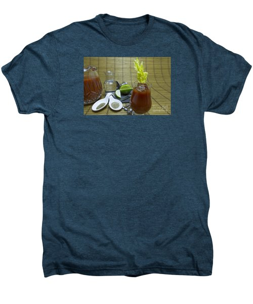 Bloody Mary Cocktail With Ingredients Men's Premium T-Shirt by Karen Foley
