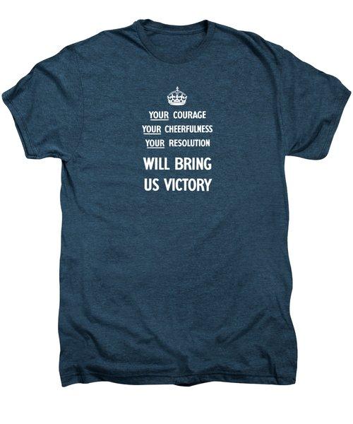 British Ww2 Propaganda Men's Premium T-Shirt