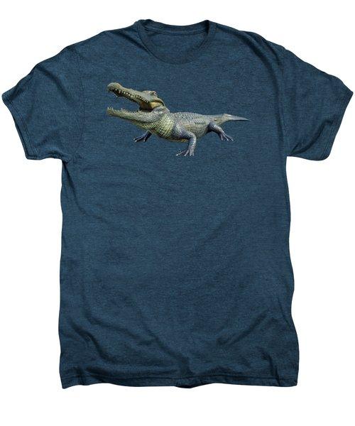 Bull Gator Transparent For T Shirts Men's Premium T-Shirt by D Hackett