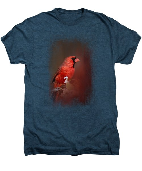 Cardinal In Antique Red Men's Premium T-Shirt
