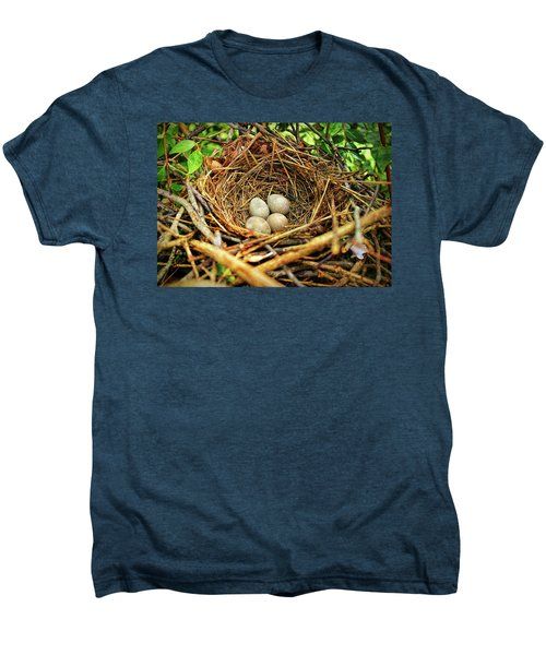 Brown Thrasher Nest And Eggs Men's Premium T-Shirt by Bellesouth Studio
