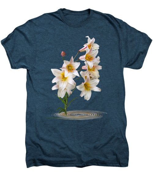 Cascade Of Lilies On Black Men's Premium T-Shirt