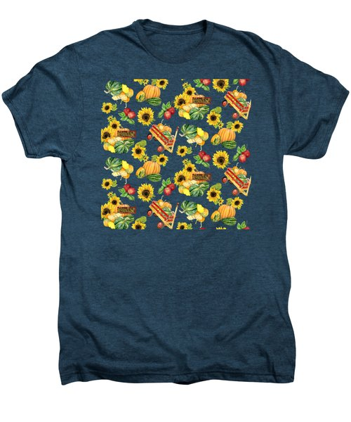 Celebrate Abundance Harvest Half Drop Repeat Men's Premium T-Shirt by Audrey Jeanne Roberts