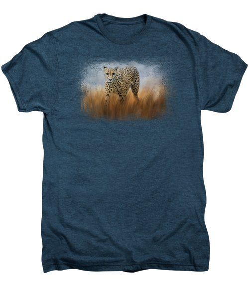 Cheetah In The Field Men's Premium T-Shirt by Jai Johnson
