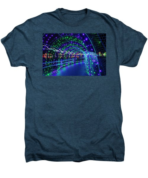 Christmas Lights In Tunnel At Lafarge Lake Men's Premium T-Shirt