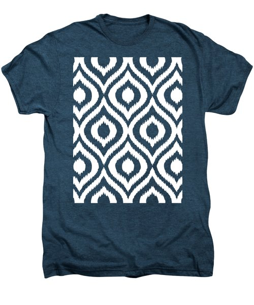 Circle And Oval Ikat In White N03-p0100 Men's Premium T-Shirt