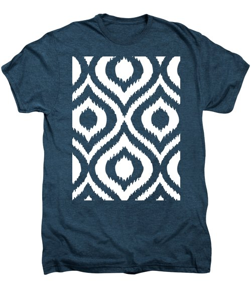 Circle And Oval Ikat In White T02-p0100 Men's Premium T-Shirt