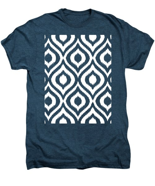 Circle And Oval Ikat In White T03-p0100 Men's Premium T-Shirt