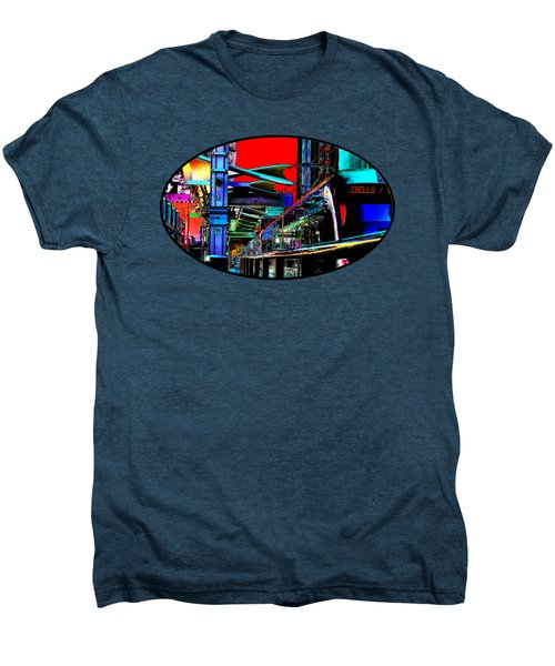 City Tansit Pop Art Men's Premium T-Shirt by Phyllis Denton