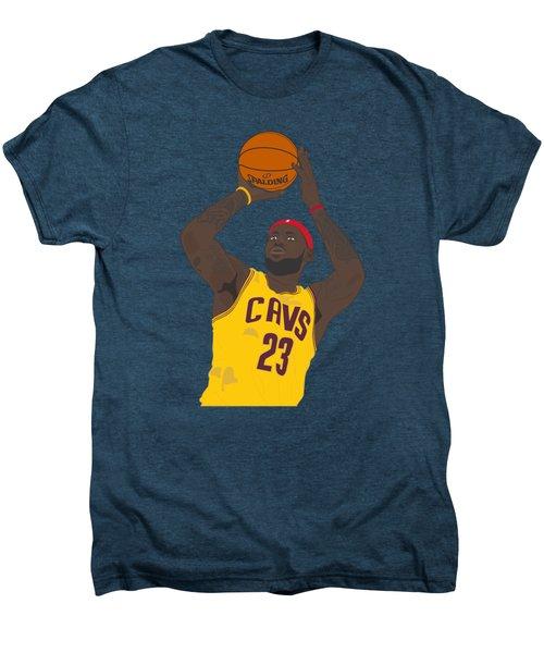 Cleveland Cavaliers - Lebron James - 2014 Men's Premium T-Shirt by Troy Arthur Graphics