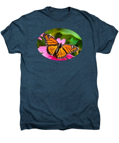 Colorful Butterflies - Orange Viceroy Butterfly Men's Premium T-Shirt by Christina Rollo