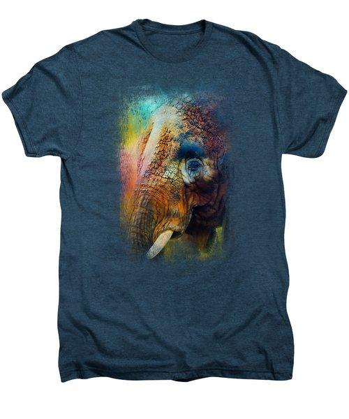 Colorful Expressions Elephant Men's Premium T-Shirt by Jai Johnson