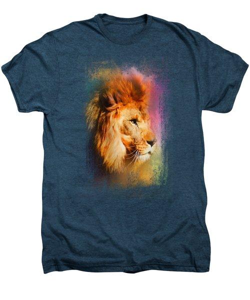 Colorful Expressions Lion Men's Premium T-Shirt by Jai Johnson