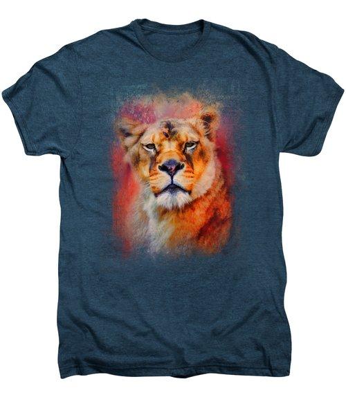 Colorful Expressions Lioness Men's Premium T-Shirt by Jai Johnson