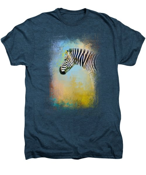 Colorful Expressions Zebra Men's Premium T-Shirt by Jai Johnson