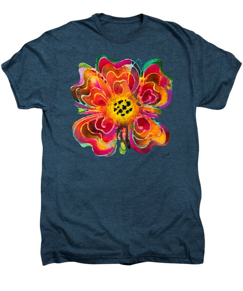 Colorful Flower Art - Summer Love By Sharon Cummings Men's Premium T-Shirt by Sharon Cummings