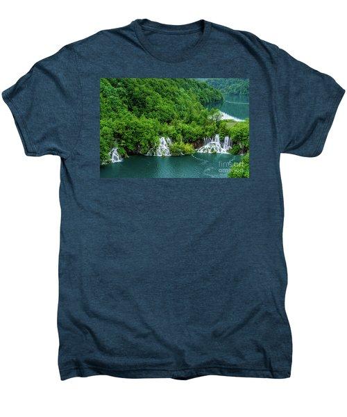 Connected By Waterfalls - Plitvice Lakes National Park, Croatia Men's Premium T-Shirt