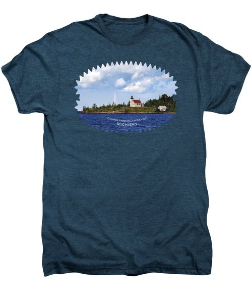Copper Harbor Lighthouse Men's Premium T-Shirt by Christina Rollo