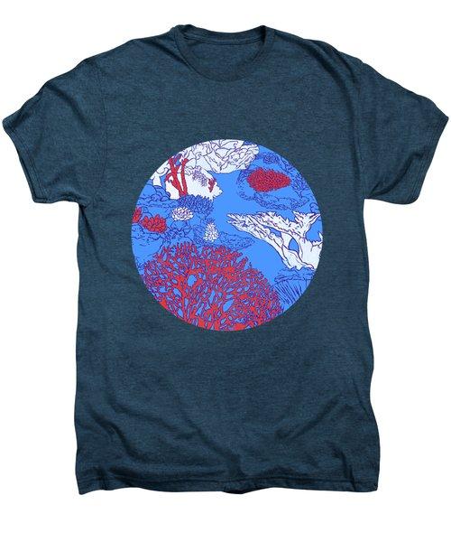 Coral Reef Men's Premium T-Shirt by Evgenia Chuvardina