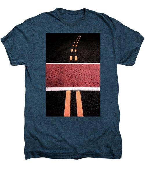 Crosswalk Conversion Of Traffic Lines Men's Premium T-Shirt