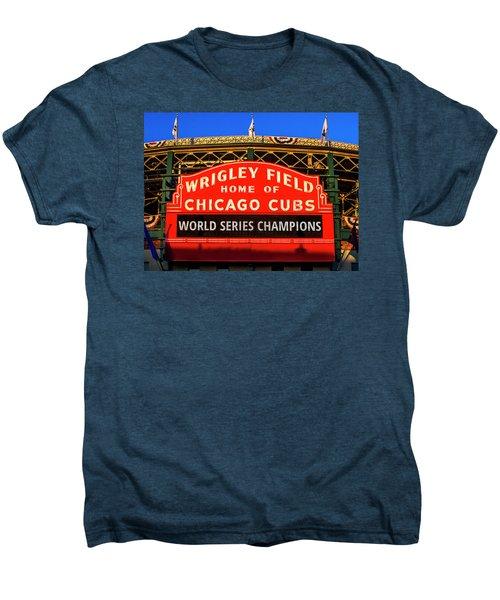 Cubs Win World Series Men's Premium T-Shirt by Andrew Soundarajan