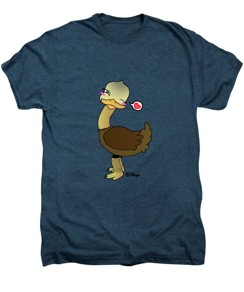 Cute Ostrich Men's Premium T-Shirt by Olluga Gifts