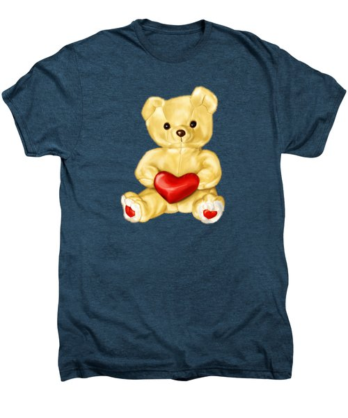 Cute Teddy Bear Hypnotist Men's Premium T-Shirt by Boriana Giormova