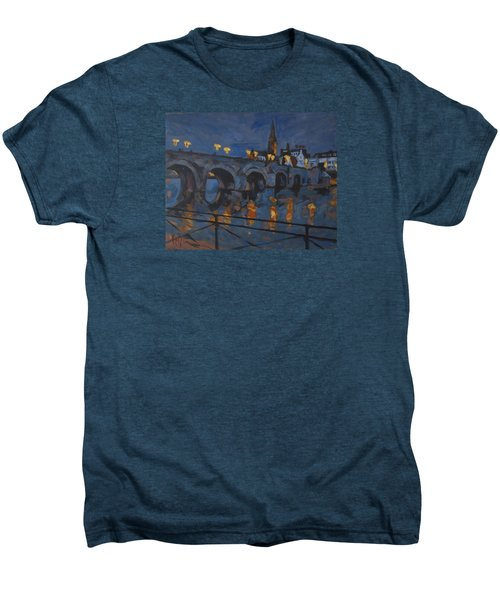 December Lights Old Bridge Maastricht Acryl Men's Premium T-Shirt