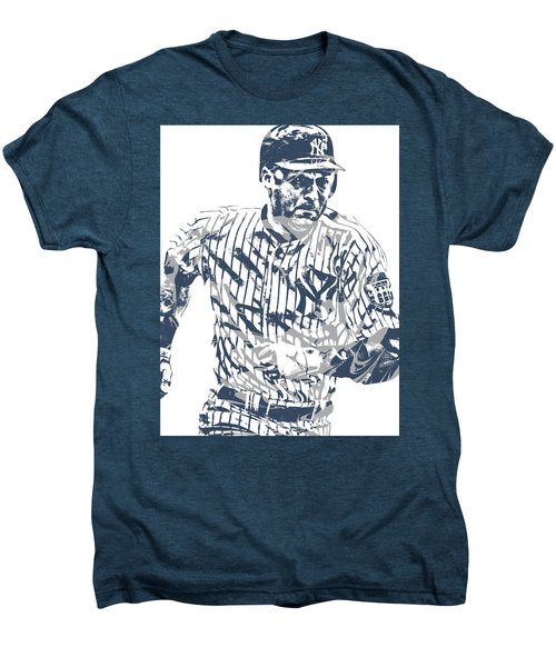 Derek Jeter New York Yankees Pixel Art 12 Men's Premium T-Shirt