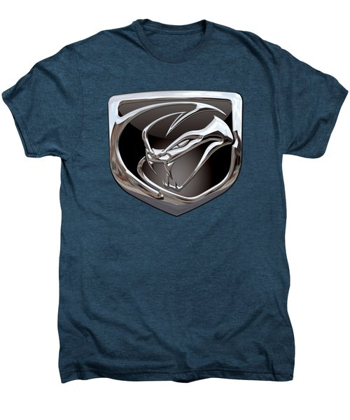 Dodge Viper - 3d Badge On Red Men's Premium T-Shirt