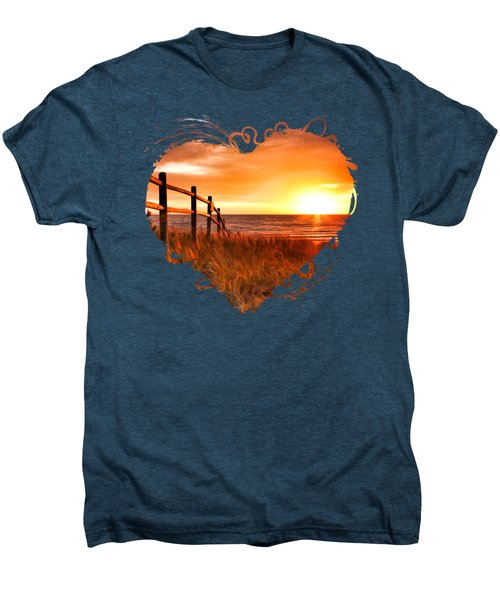 Door County Europe Bay Fence Sunrise Men's Premium T-Shirt