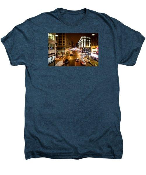 Downtown In The Itty-bitty City Men's Premium T-Shirt by Randy Scherkenbach