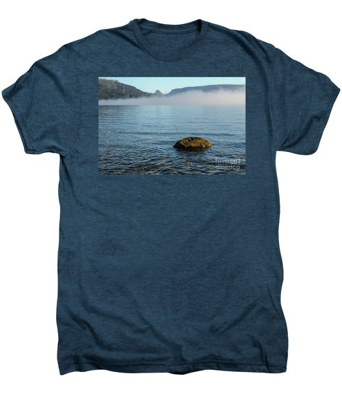 Men's Premium T-Shirt featuring the photograph Early Morning At Lake St Clair by Werner Padarin