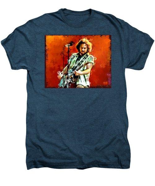 Eddie Vedder Painting Men's Premium T-Shirt by Scott Wallace