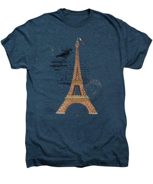Eiffel Tower T Shirt Design Men's Premium T-Shirt by Bellesouth Studio