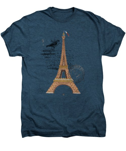Eiffel Tower T Shirt Design Men's Premium T-Shirt