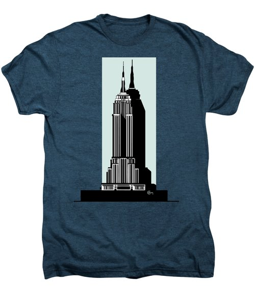 Empire State Building Deco Minimal Men's Premium T-Shirt by Cecely Bloom