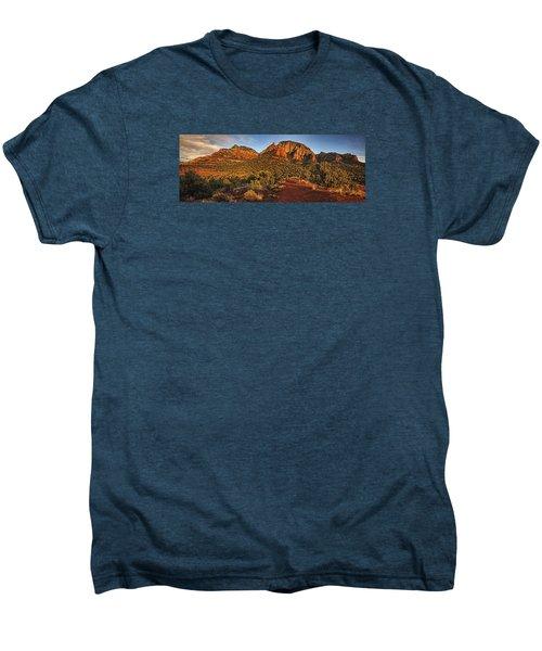 Evening At Dry Creek Vista Txt Men's Premium T-Shirt