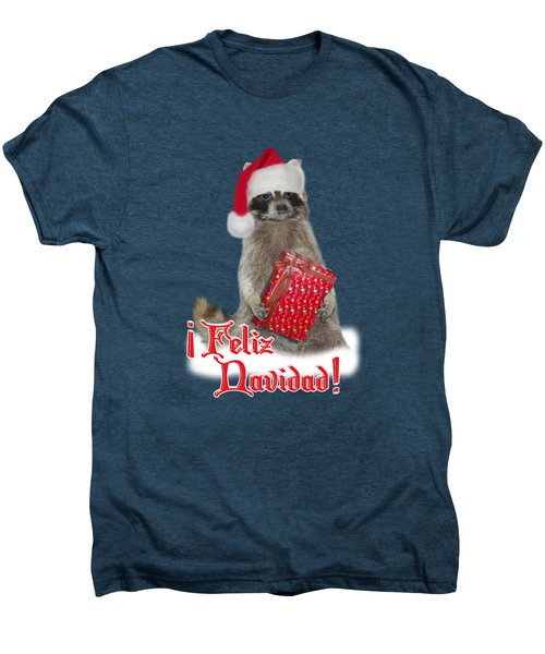 Feliz Navidad - Raccoon Men's Premium T-Shirt