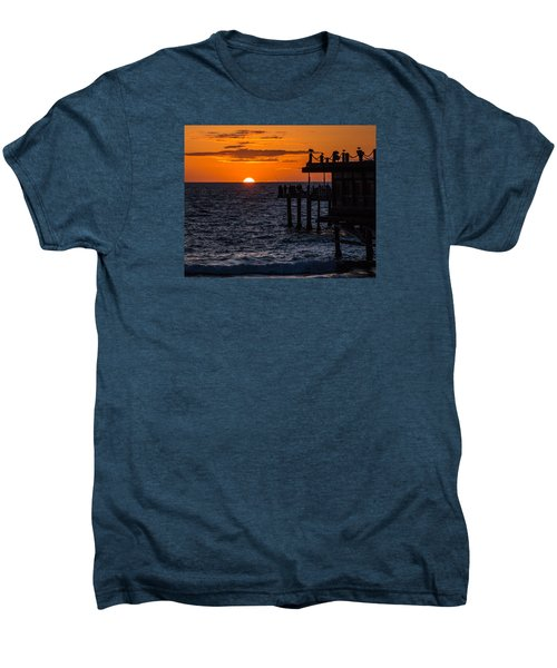 Fishing At Twilight Men's Premium T-Shirt
