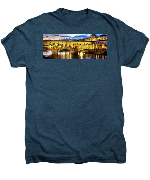 Florence - Ponte Vecchio Sunset From The Oltrarno - Vintage Version Men's Premium T-Shirt