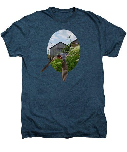 Flying Through The Farm Men's Premium T-Shirt