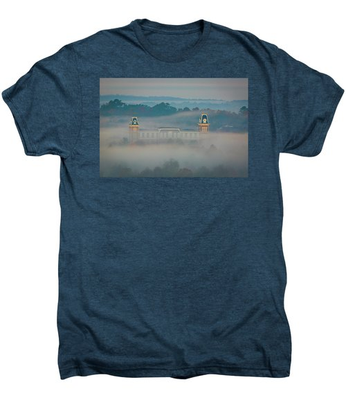 Fog At Old Main Men's Premium T-Shirt by Damon Shaw