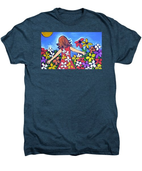 Men's Premium T-Shirt featuring the painting Garden Of Joy by Winsome Gunning