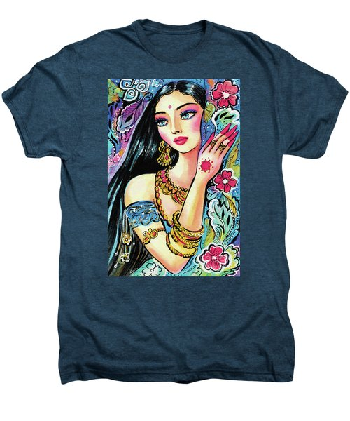 Men's Premium T-Shirt featuring the painting Gita by Eva Campbell