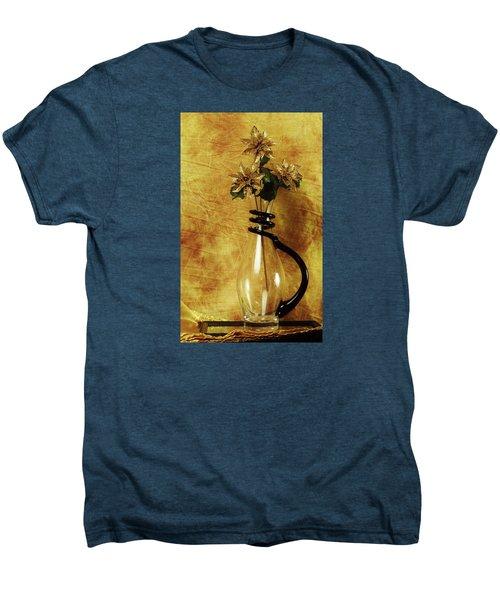 Gold Flowers In Vase Men's Premium T-Shirt