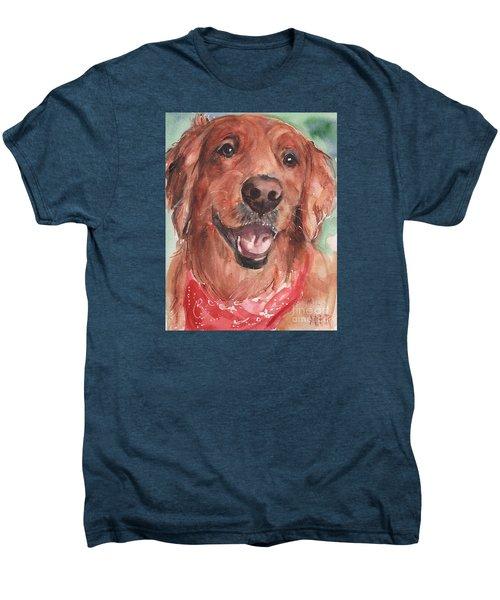 Golden Retriever Dog In Watercolori Men's Premium T-Shirt