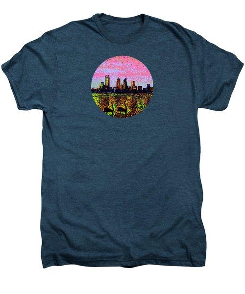 Golden Skyline Perth Men's Premium T-Shirt by Alan Hogan