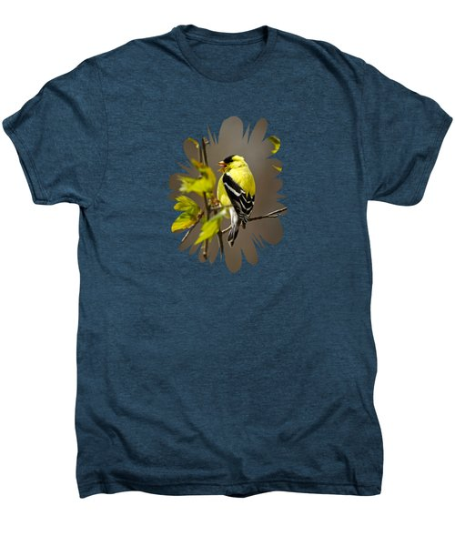 Goldfinch Suspended In Song Men's Premium T-Shirt by Christina Rollo