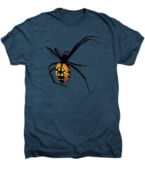 Graphic Spider Black And Yellow Orange Men's Premium T-Shirt